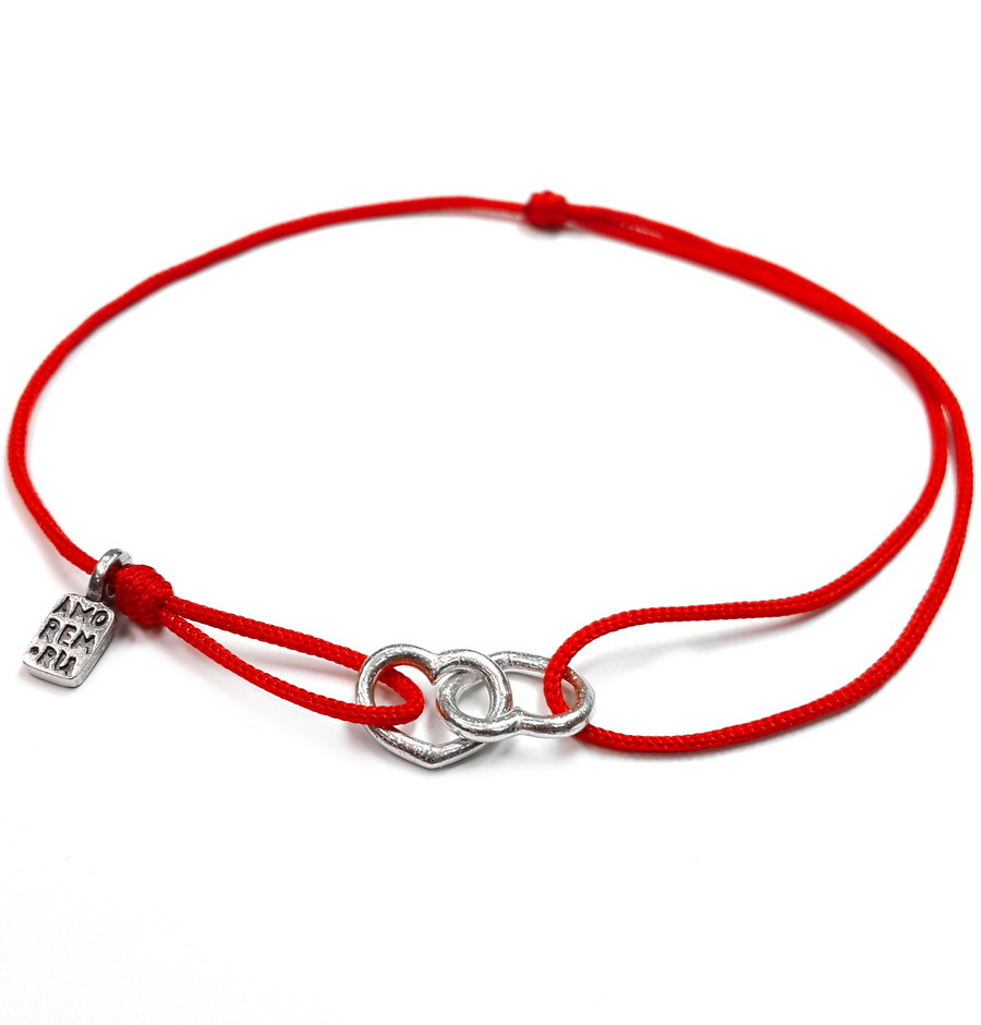 Connected Hearts bracelet , Sterling Silver
