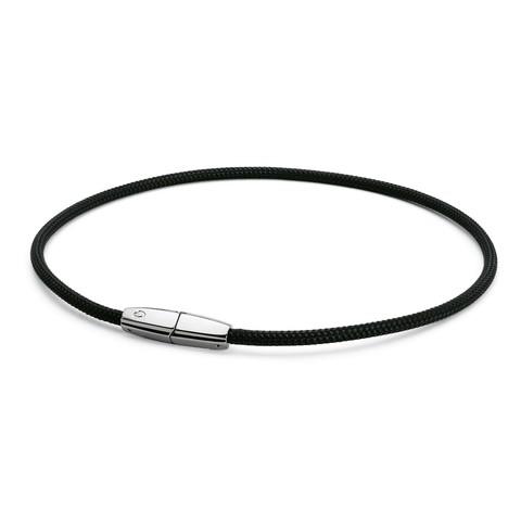 Ожерелье PHITEN RAKUWA NECKLACE X100 Choker Square (черно-серебряный)
