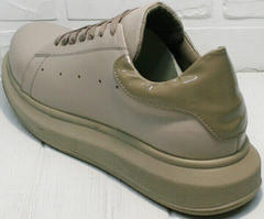 Спортивные женские туфли. Мягкие кроссовки для ходьбы Markos 1523 All Beige.