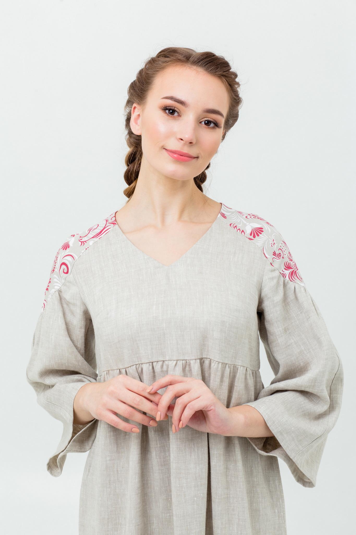 Платье льняное длинное купить с доставкой