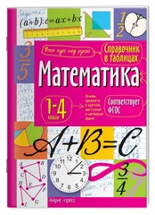 Справочник в таблицах Математика. 1-4 классы.