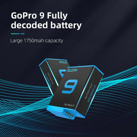 Аккумулятор для GoPro HERO 9 1750 mAh Telesin (GP-BTR-901)