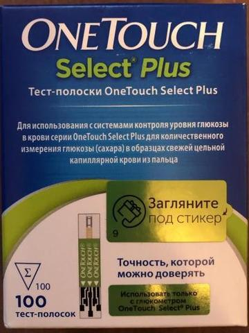 Тест-полоски OneTouch Select Plus №100 LifeScan Europe (Россия)