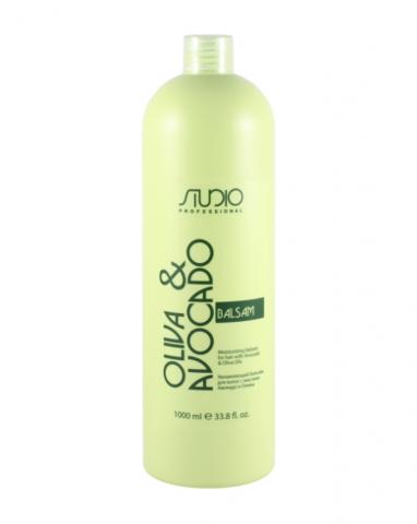 Увлажняющий бальзам для волос с маслом авокадо и оливы Kapous Professional 1000 мл