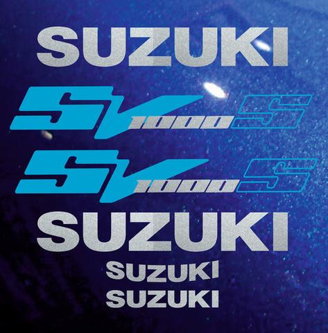 Набор виниловых наклеек на мотоцикл SUZUKI SV 1000S 2004