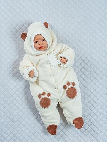 Комбинезон с шапкой Little Bear молочный