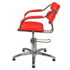 Парикмахерское кресло Ирэн гидравлика хром, пятилучье хром на подпятниках