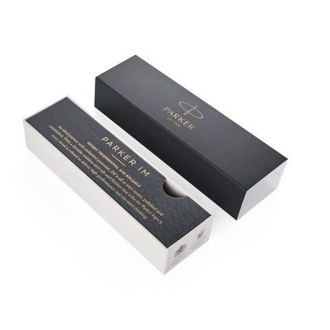 Подарочный набор: Перьевая и ручки роллер Parker  IM Premium Warm Silver (grey) GT123