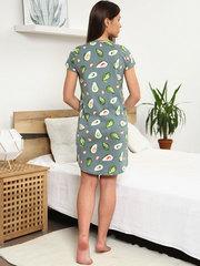 Мамаландия. Сорочка для беременных и кормящих с пуговицами короткий рукав, авокадо/хаки