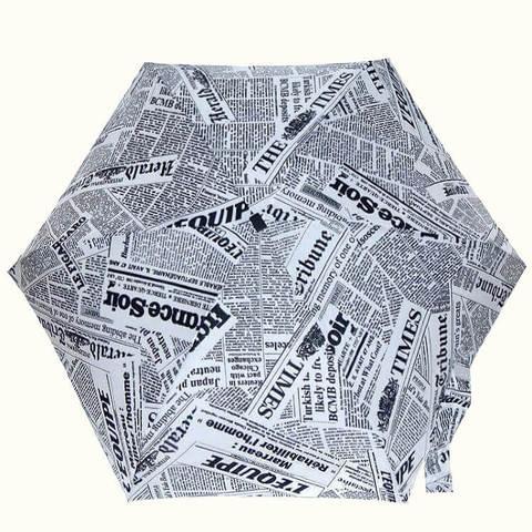 Микро зонтик в газетный принт