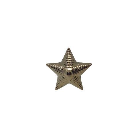 Звезда на погоны мет. 20 мм. риф.зол. (аналог латунной)