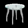 Купить круглый стеклянный стол В1 на кухню недорого
