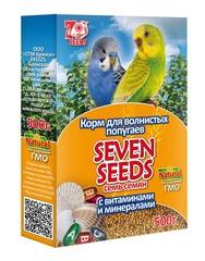 Корм для волнистых попугаев с витаминами и минералами Seven Seeds