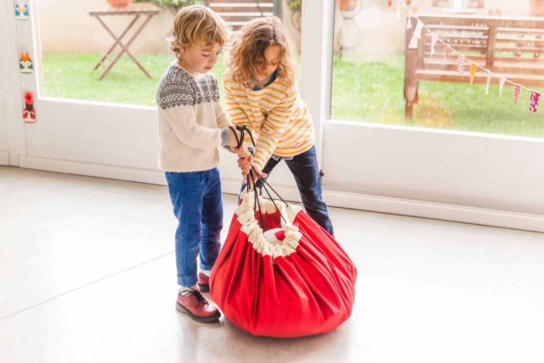 Коврик-мешок для игрушек Play&Go. Коллекция Classic. Красный