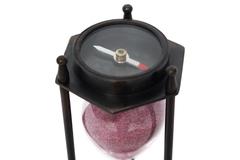 Песочные часы с компасом Secret De Maison ( mod 43362 ) — античная медь