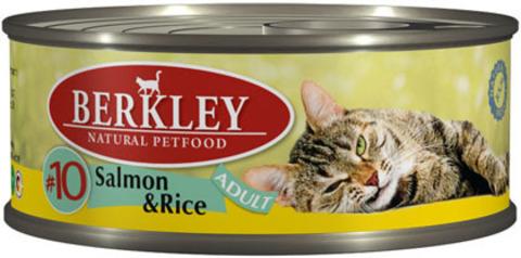 Консервы Berkley №10 Лосось с рисом для кошек