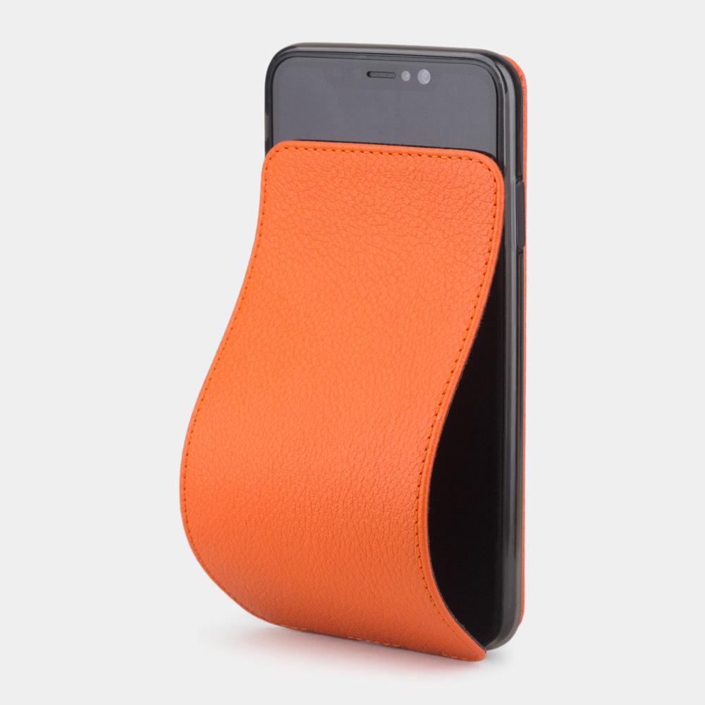 Чехол для iPhone X/XS из натуральной кожи теленка, оранжевого цвета