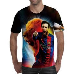 Футболка 3D принт, Лионель Месси (3Д Messi) 04