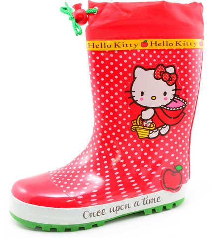 Резиновые сапоги для девочек утепленные Хелло Китти (Hello Kitty), цвет красный. Изображение 1 из 11.