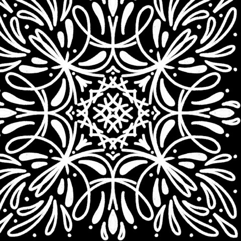 Узор черно-белый