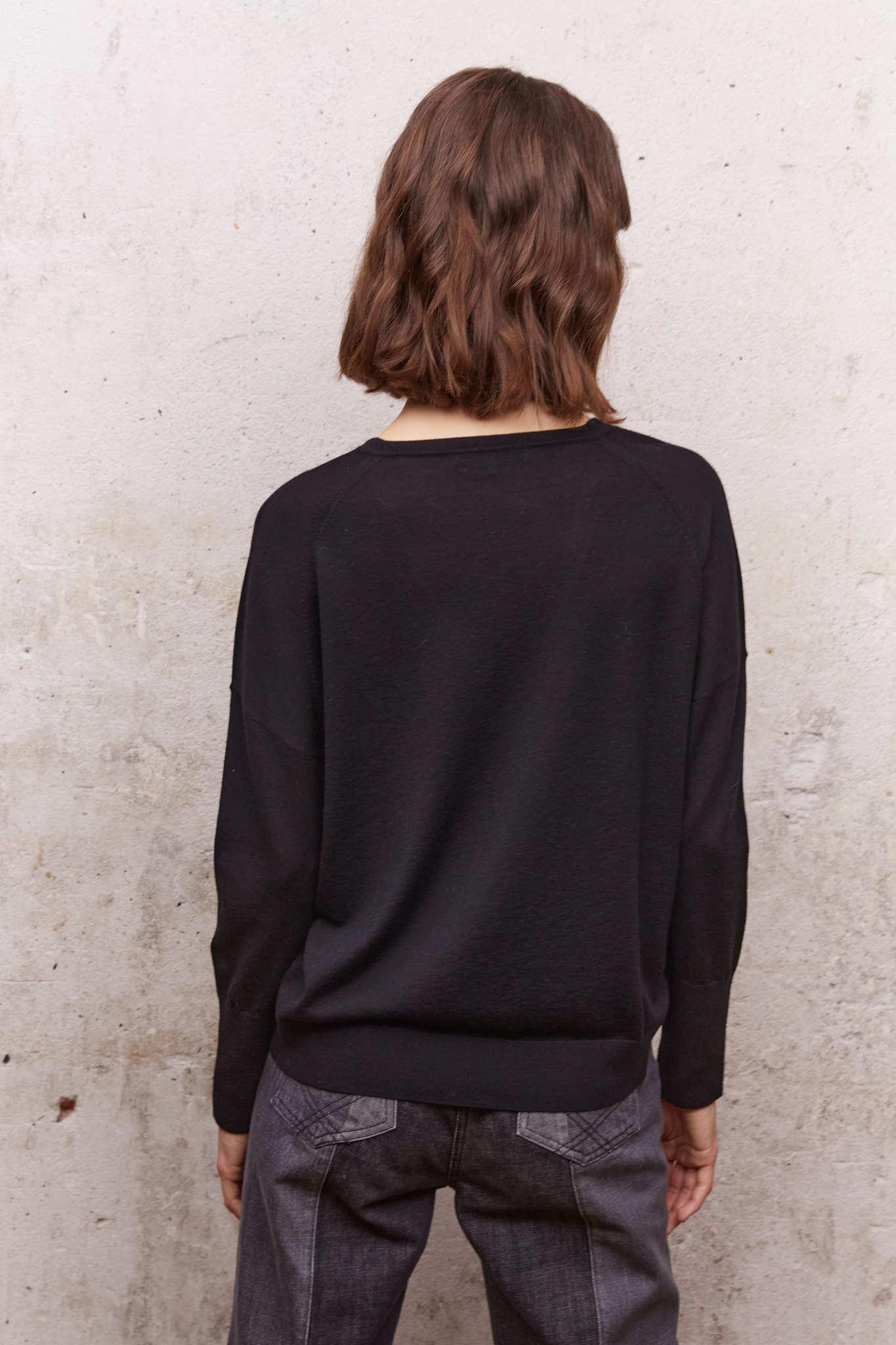 LOU - Шерстяной пуловер с V-образным вырезом