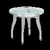 В1 стол круглый стеклянный кухонный