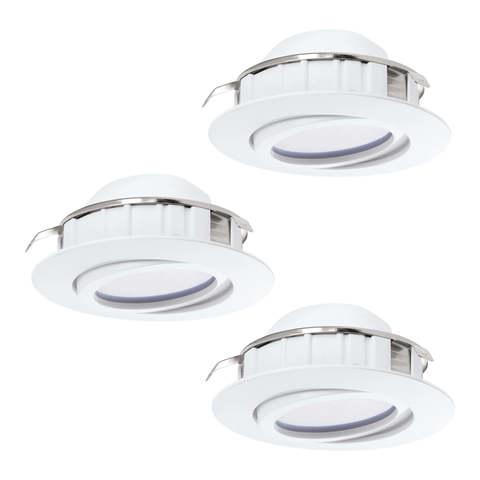 Комплект светильников светодиодных встраиваемых регулируемых Eglo PINEDA 95851