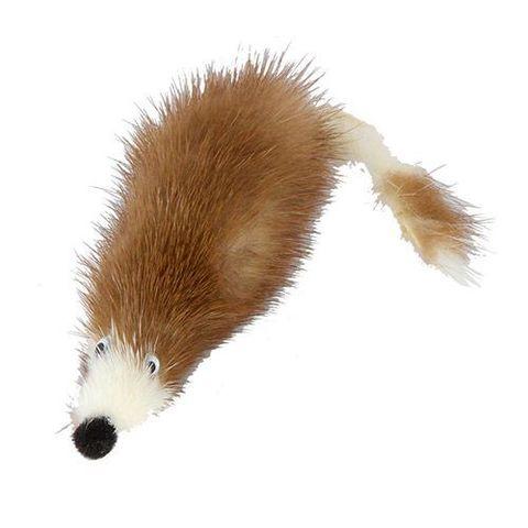 GoSi игрушка Мышь норка М с хвостом перо картон с еврослотом