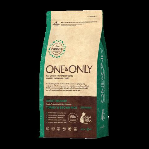 One&Only Turkey & Rice Adult Indoor Сухой корм для домашних кошек Индейка с рисом низкозерновой