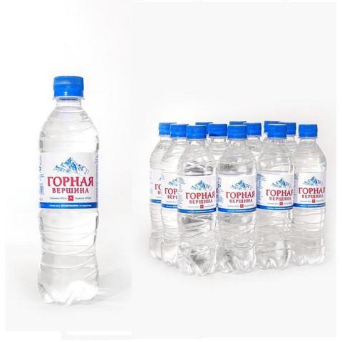 Вода минеральная Горная вершина негазированная 0.5 л (12 штук в упаковке)