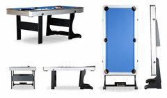 Складной бильярдный стол для пула «Team I» 6 ф (черный) ЛДСП