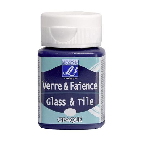 Краска по стеклу и керамике Lefranc&Bourgeois Glass&Tile 50 мл Непрозрачная 610, египетский фиолет