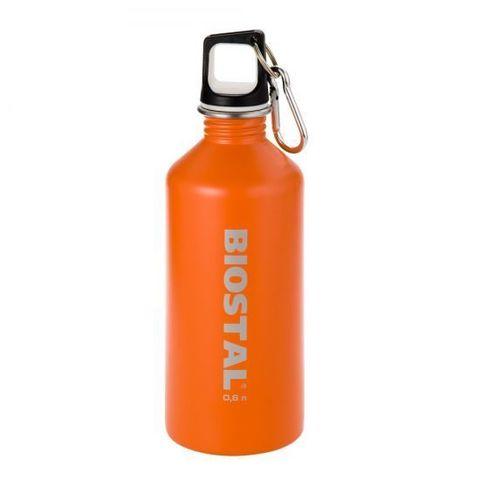 Бутылка Biostal Flër (0,75 литра) пробка с карабином, оранжевая