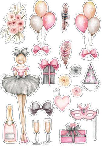 Печать на вафельной бумаге, набор Девичьи радости 1