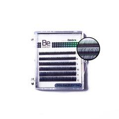 Цветные ресницы Be Perfect Ombre Green MIX (6 линий)