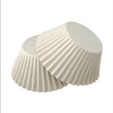 Форма-капсула Круглая (белая) 30 мм - 100 штук