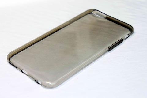 Силиконовый чехол Infinity ультратонкий для Iphone 6, 6s (Черный-прозрачный)