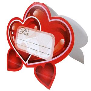 Банкетная карточка Сердце 20шт