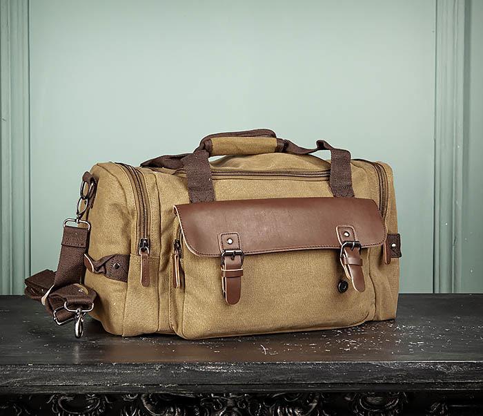 BAG502-2 Тканевая сумка для ручной клади коричневого цвета