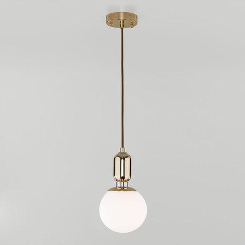 Подвесной светильник со стеклянным плафоном 50151/1 золото