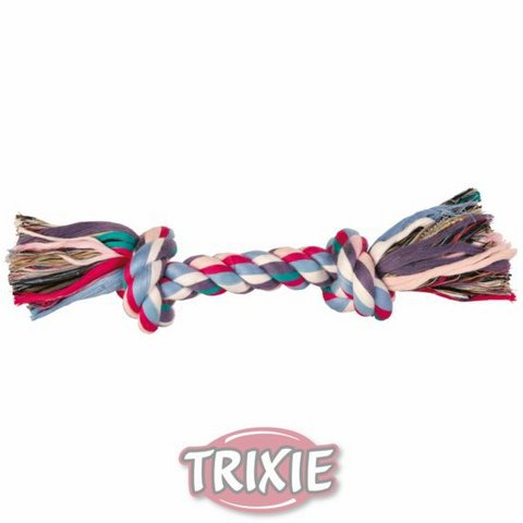 """Trixiе 3273 Игрушка д/собак """"веревка с 2-мя узлами"""" цветная, хлопок 300гр*37см"""