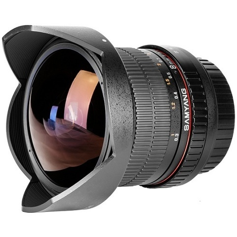 Объектив Samyang 8mm f/3.5 IF UMC CS II Fisheye Black для Pentax
