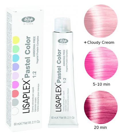 Оттенок Pink Bubble Розовая тянучка Крем-краситель для волос Lisaplex Pastel Color 60мл