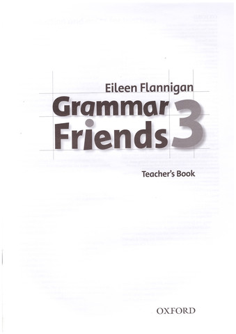 Grammar Friends 3: Teacher's Book
