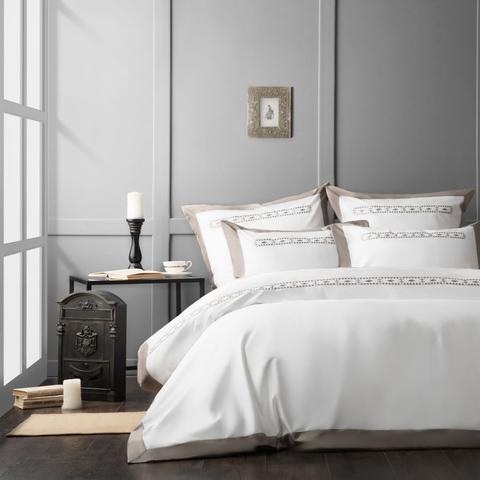 Комплект постельного белья сатин Карденас белый