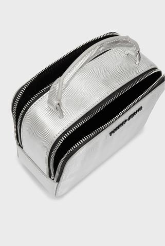 Женская серебристая сумка TJW FEMME PU CROSSOVER METALIC Tommy Hilfiger