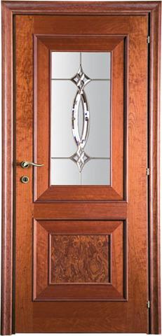 Дверь Mario Rioli Arboreo 111 (вишня амбра, остекленная, массив, облицованный шпоном)