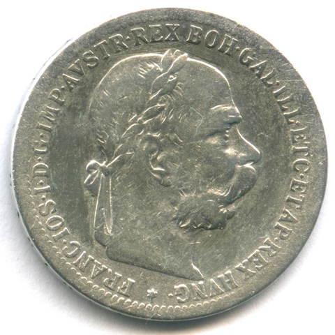 1 крона 1898. Австро-Венгрия Серебро F+