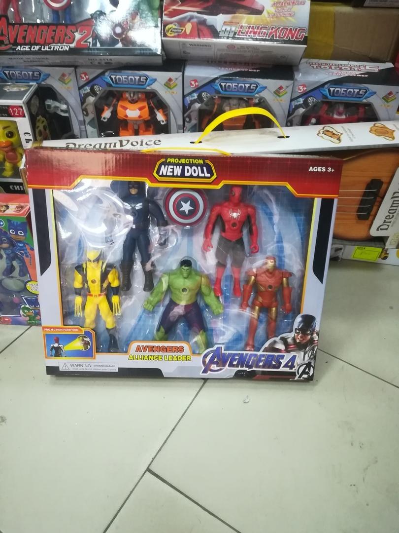 Набор героев мстителей 5 шт 20 см