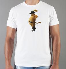 Футболка с принтом мультфильма Шрек (Shrek)  белая 0012